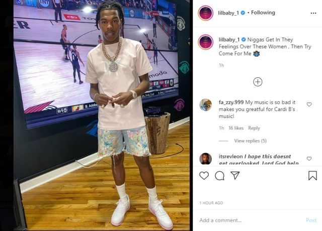 There have been rumors of tension between Lil Baby and Migos, mainly Offset, all summer. This comes despite these two both being signed to Quality Control, where Baby has been the face of the label, since 2017. Following rumors of a fight, Lil Baby posted an IG pic of himself with a caption that said that dudes get in their feelings over women, and try to come for him, leading fans to believe he was talking about Migos.