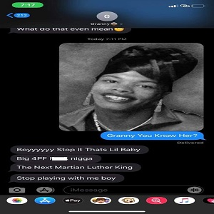 On Facebook, people are having fun with this meme. There is a photo of a woman who looks enough like Lil Baby to be his mother. Some guys on Facebook decided to circulate this image, on Facebook, sharing tweets with their mothers and grandmothers, asking them if they know this woman, normally getting hilarious responses, which they have shared to Facebook.