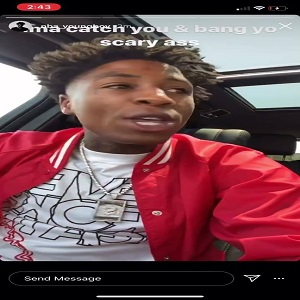 "NBA Youngboy goes viral, after his IG Story is shared on Facebook. He was ranting about somebody, but he wasn't naming names, saying he smashed all of his women, and he wants them, said he could smash his mama, and then said the guy wanted to smash his own mama. Repeatedly, he called this person a ""b*tch,"" with people believing Fredo Bang is the person he's talking about."