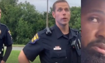 In High Point, North Carolina, a black man was pulled over by the police. The cops stopped him, because he had a license plate cover. Soon, another cop joined the original officer, and the man was asked to get out of his car, so they could give him a warning ticket.