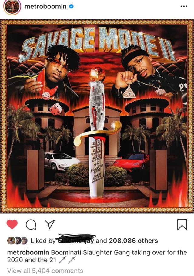 21 savage and metro boomin reveal cover art for savage mode 2 ep which releases on friday 21 savage and metro boomin reveal cover