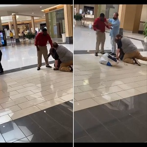 In Winston-Salem's Hanes Mall, in North Carolina, a black man was attacked by two white men. With no proof, these men accused the black man of shoplifting, getting him down on the ground, and laid on his back. After repeated demands to let the man go, they refused, and when security arrived, they did nothing to deescalate the issue.