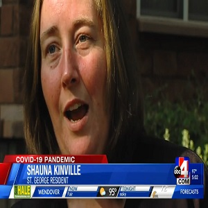 """Shauna Kinville, of St. George, Utah, attended a No More Masks rally, last week. As everyone knows, there is a mask mandate, in most states, to help slow the Coronavirus spread. However, not everyone agrees with this, but this woman went on the news and compared being forced to wear masks to George Floyd saying """"I can't breathe,"""" before he died."""