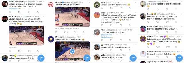 Early, in Game 6 of the 2020 NBA Finals, LeBron James is setting the tone. He grabbed the rebound and went coast-to-coast, for the score. The easy layup has Twitter crowning LeBron, already the king, an unstoppable beast.