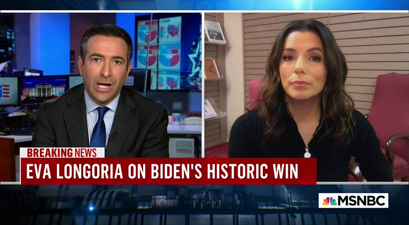 Eva Longoria was on Ari Melber's MSNBC show, discussing Joe Biden's presidential victory. When she was speaking, she said that Latinas were the real heroines, here, which led to black women, on Twitter, assuming that she was slighting black women. Facing this backlash, Eva Longoria took to Twitter, where she said her comments were not directed towards black women, shouting them out, while saying she was speaking about Latino men.