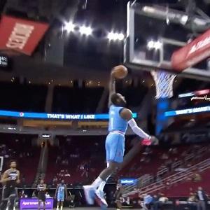 John Wall first dunk as Houston Rocket