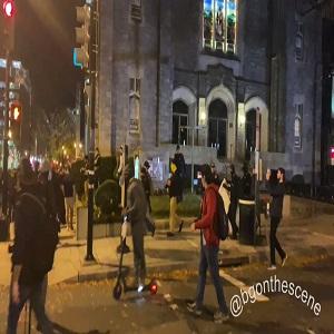 Proud Boys rip burn Black Lives Matter BLM flag off DC church