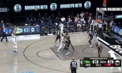 Giannis airball three vs Nets