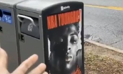 NBA Youngboy ad trashcan
