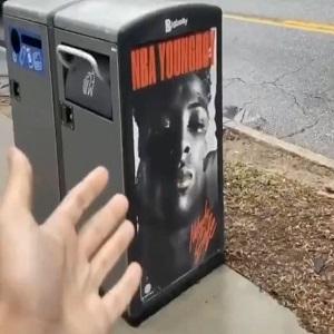 NBA Youngboy ad trashcan