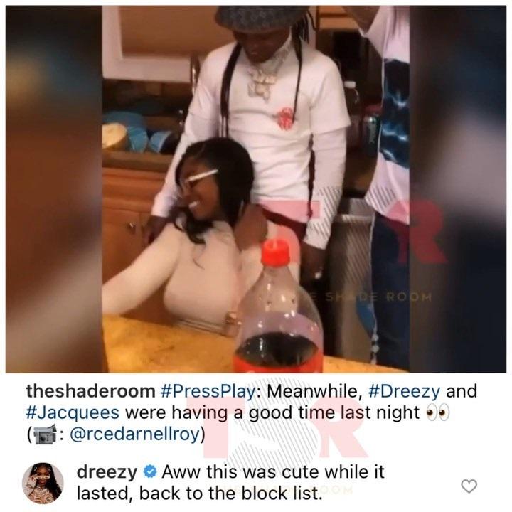 Dreezy announces Jacquees breakup