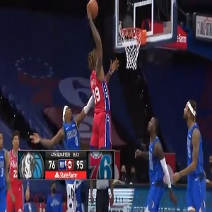 Dwight Howard dunk against Mavericks
