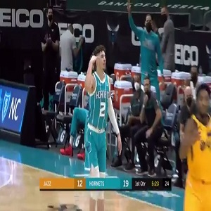 LaMelo Ball career-high 34 points Jazz Twitter