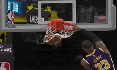 LeBron dunk Memphis Grizzlies Lakers