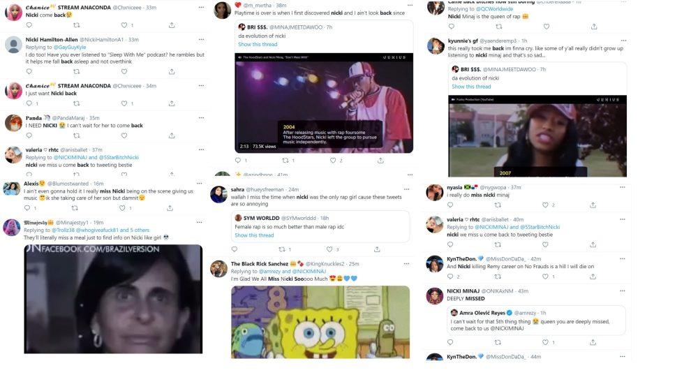 Nicki Minaj fans miss her Twitter back