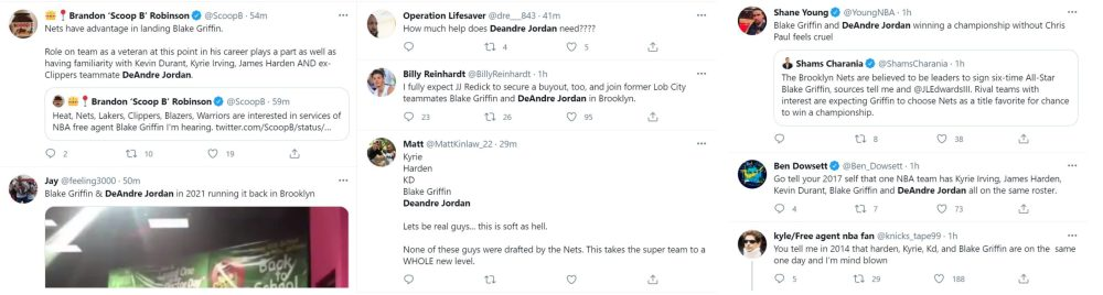 Blake Griffin Nets DeAndre Jordan