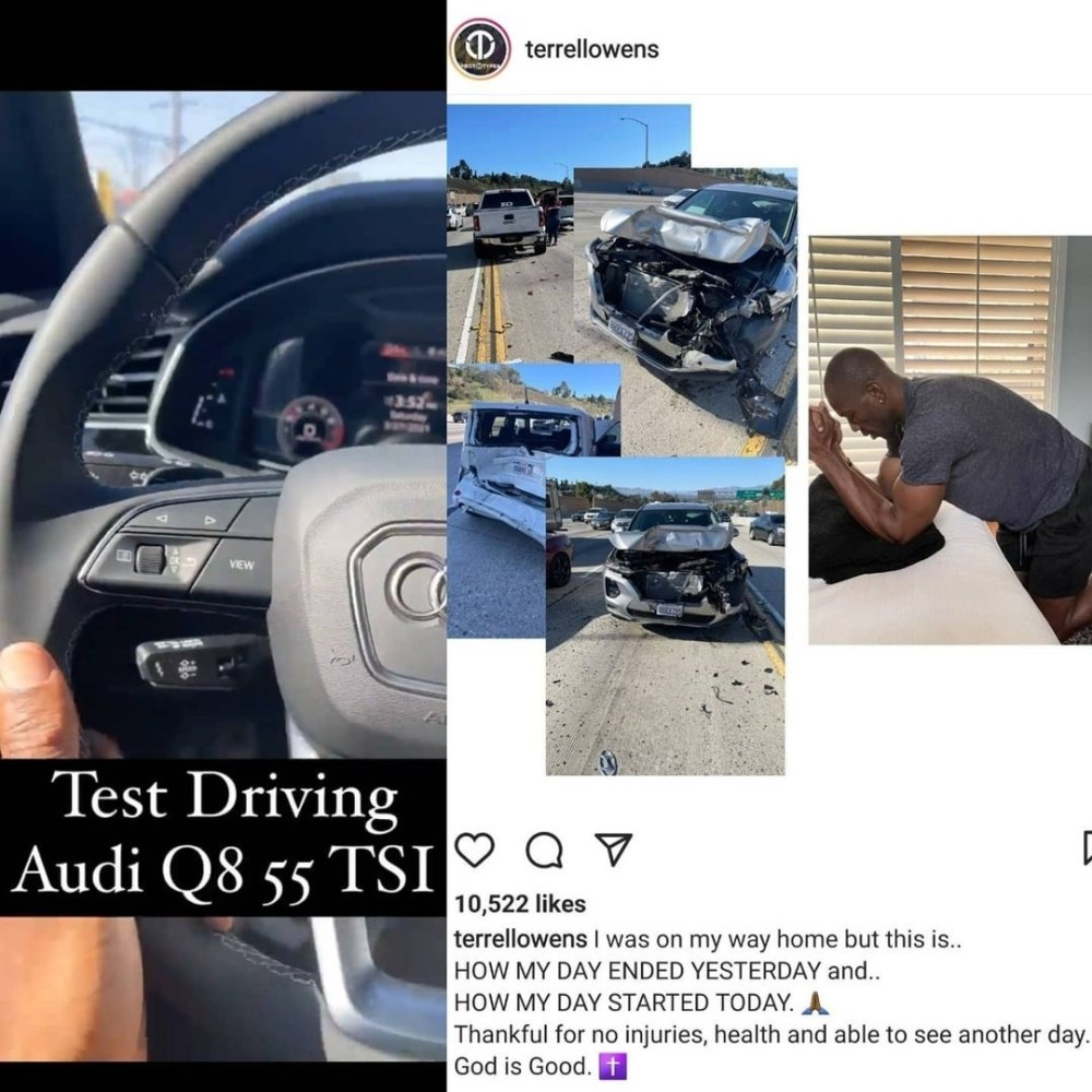 Terrell Owens car accident