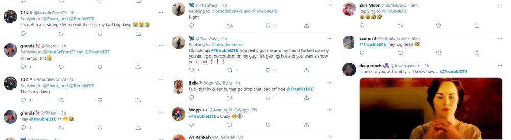 Trouble sex tape sextape footage leaks on Twitter