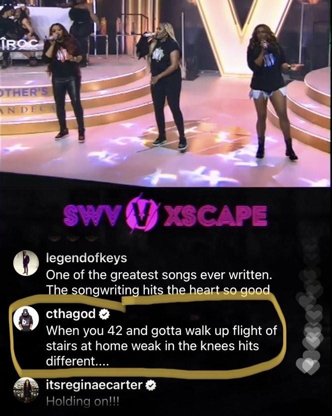 Charlamagne Tha God weak in the knees SWV