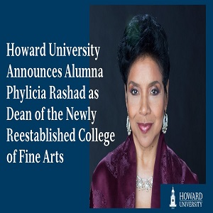 Phylicia Rashad Dean of Howard University College of Fine Arts