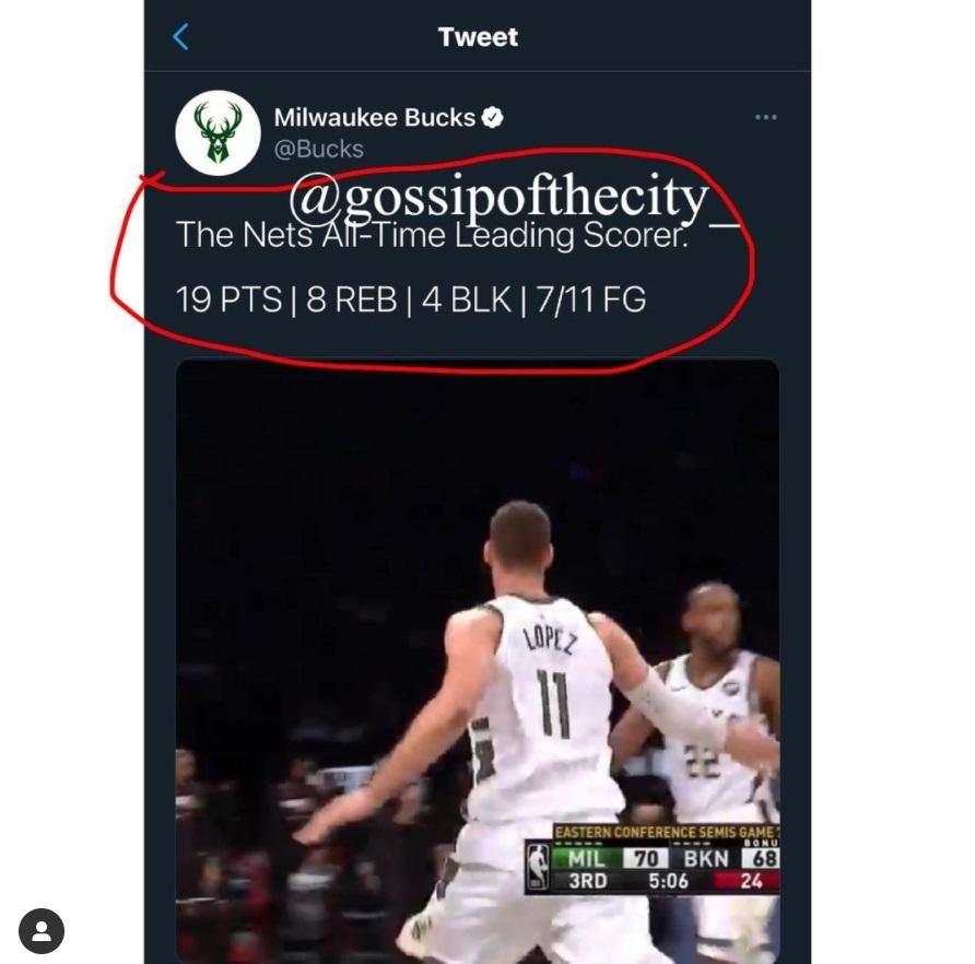 Brook Lopez Nets all-time leading scorer Milwaukee Bucks Twitter