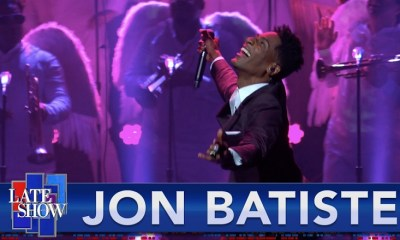 Jon Batiste performs Freedom on The Late Show with Stephen Colbert