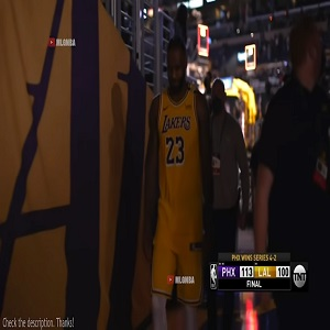 LeBron James leaves Game 6 vs Phoenix without shaking hands