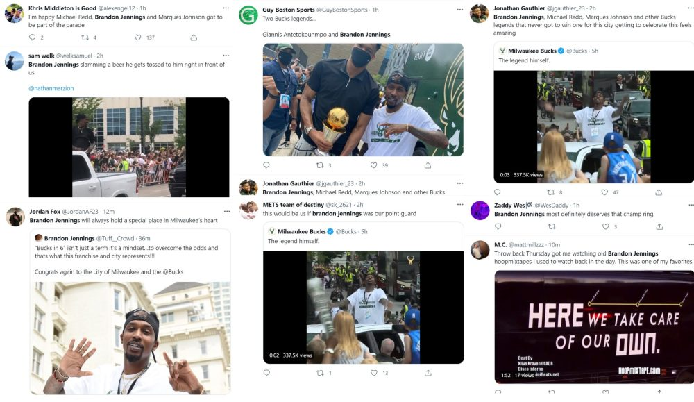 Brandon Jennings trends on Twitter for partying during Bucks championship parade