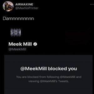 Meek Mill blocks fan for trolling him over fries pic