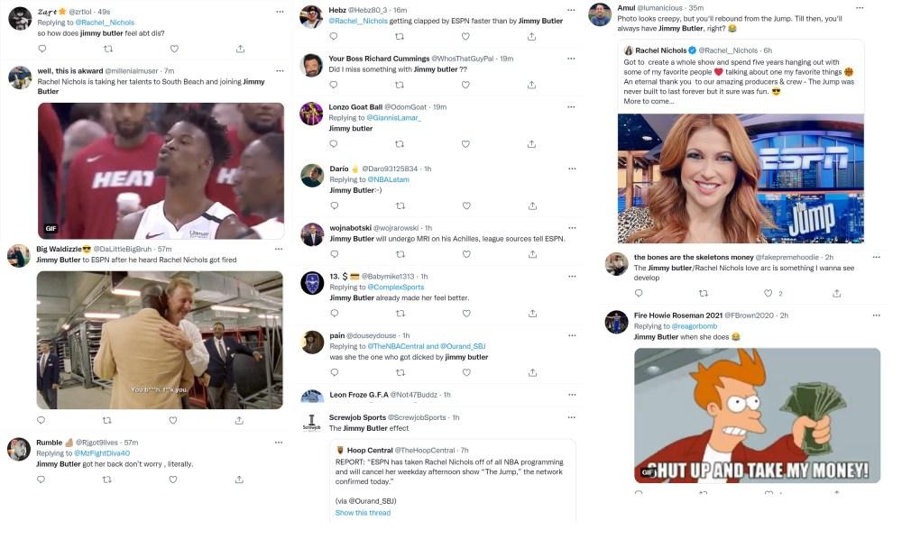 Jimmy Butler trends on Twitter after ESPN fired Rachel Nichols