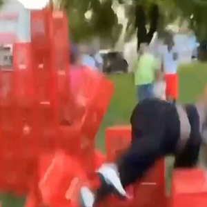 Woman fell during Crate Challenge and hurt her back