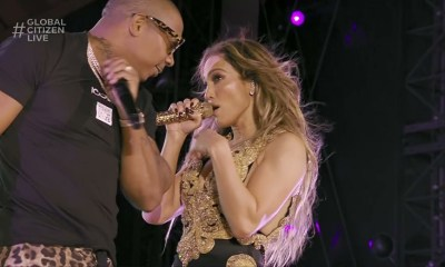 Jennifer Lopez brings Ja Rule out to perform at Global Citizen