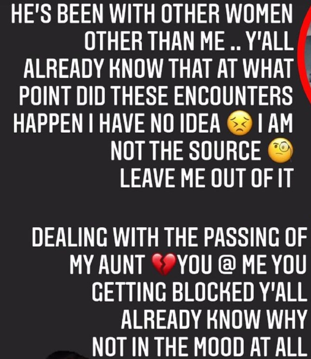 Joy Young, Trick Daddy's ex-wife, asks people to stop asking her about his booty ate comments, as her aunt has died