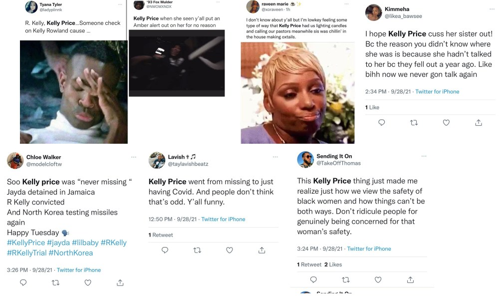 Kelly Price has fans on Twitter upset, who believed she actually disappeared, when she really took time away to recover from COVID-19