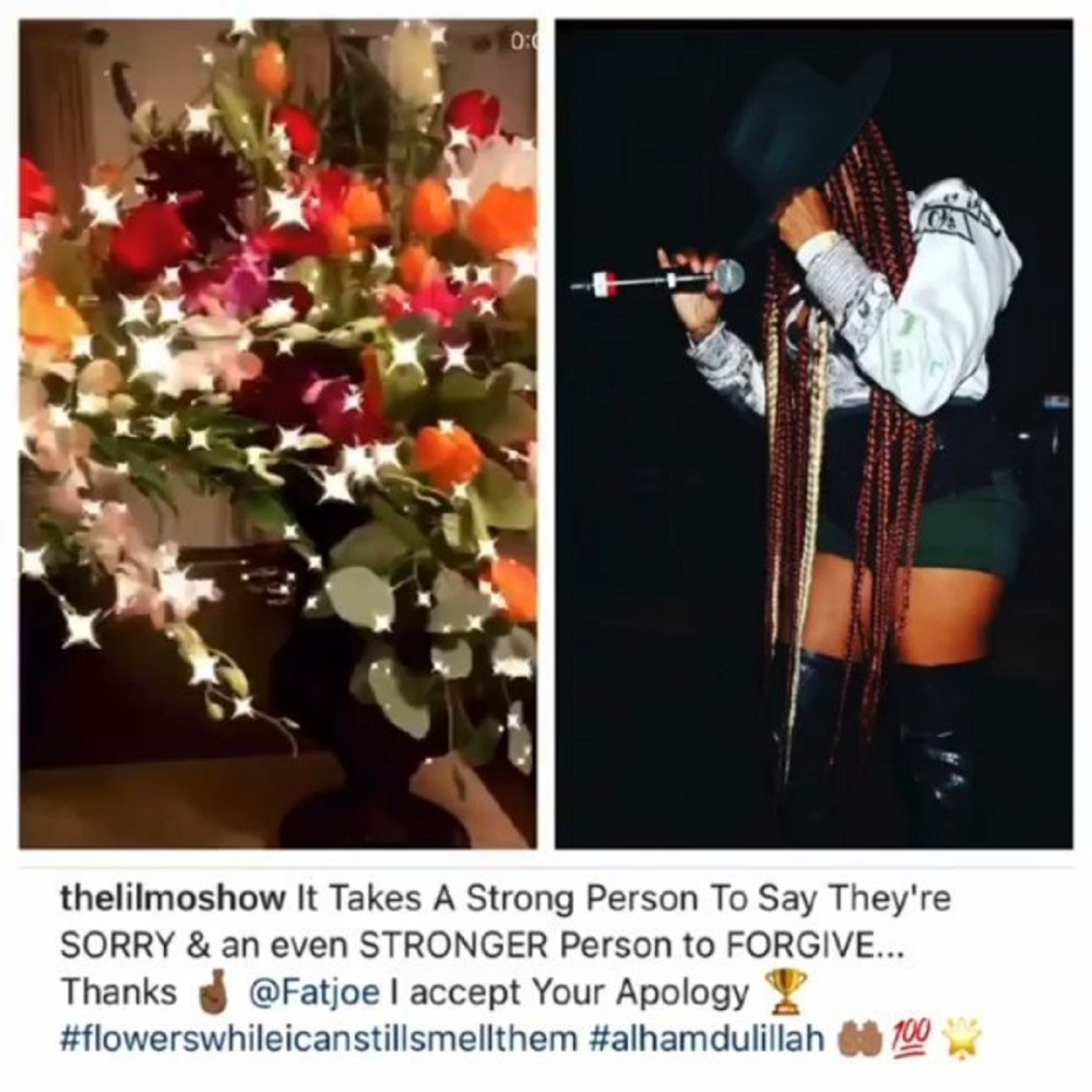 Lil' Mo accepts Fat Joe's apology, after he sent flowers to her