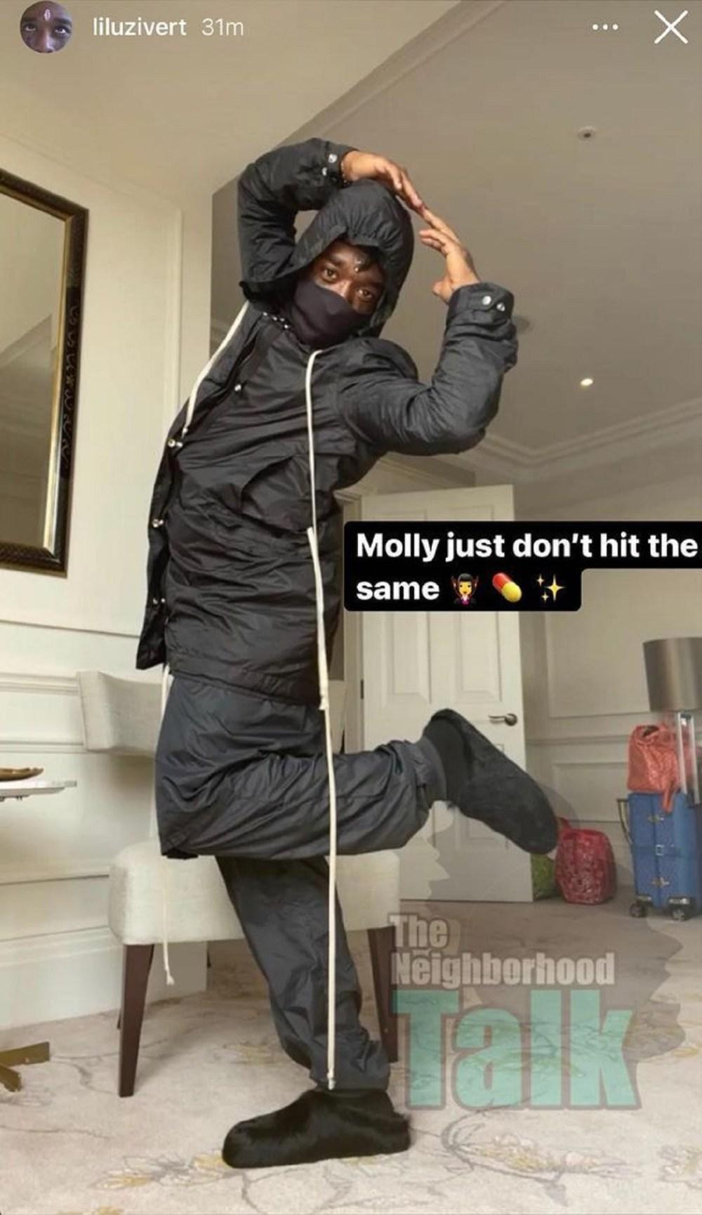 Lil Uzi Vert strikes ballerina pose on Instagram