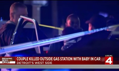 Couple killed at Detroit gas station, while mother held 9 month old baby