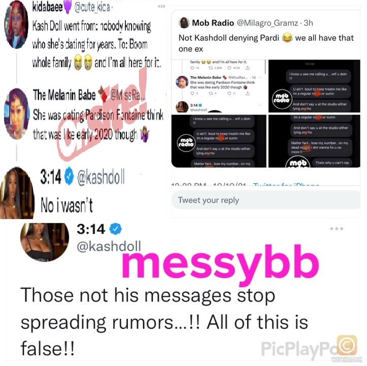 Kash Doll denies ever dating Pardison Fontaine and tells people to stop spreading rumors