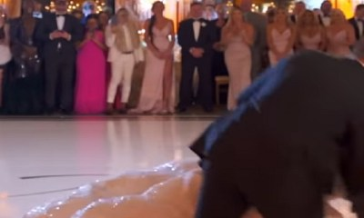 Marie Blanchard and her husband fell during their wedding dance