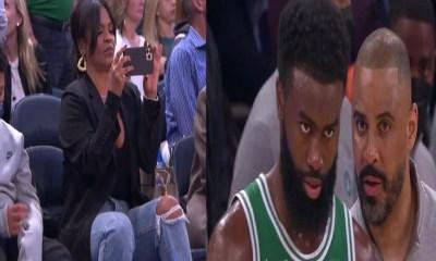 Nia Long watches husband, Ime Udoka, in Celtics head coaching debut