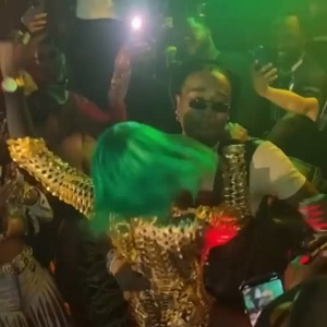 Quavo goes viral after Spice's dancer jumped on him, at Cardi B's party