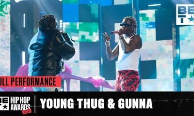 Young Thug and Gunna perform at the BET Hip Hop Awards