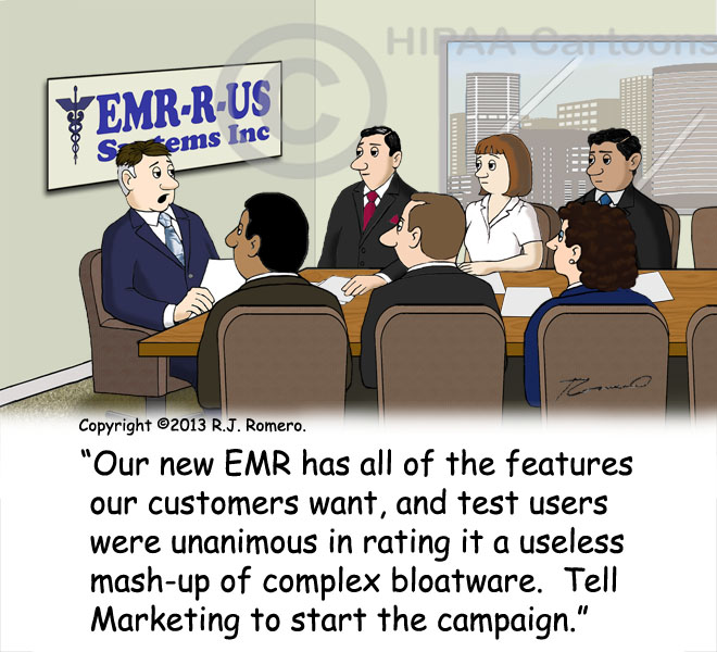 Cartoon-CEO-announces-new-EMR-that-is-useless-bloatware_emr143