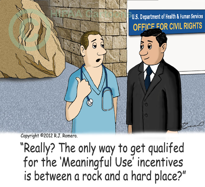 Cartoon-Doctor-asks-OCR-agent-about-rock-and-hard-place-to-get-EHR-qualification_emr120