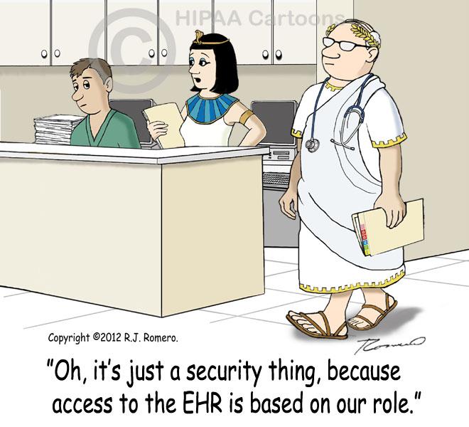 Cartoon-Nurse-tells-new-nurse-that-access-to-EHR-is-based-on-role_emr131