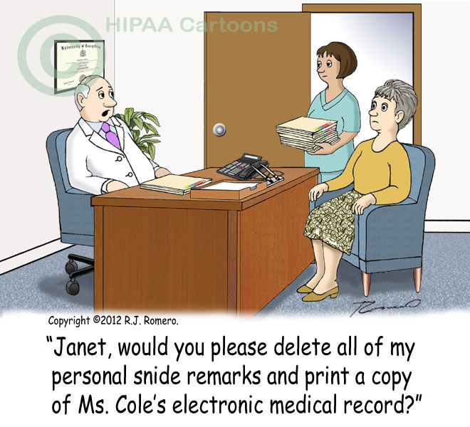 Cartoon-Doctor-tells-nurse-to-delete-negative-remarks-from-emr-and-print-copy-of-patient-records_emr123