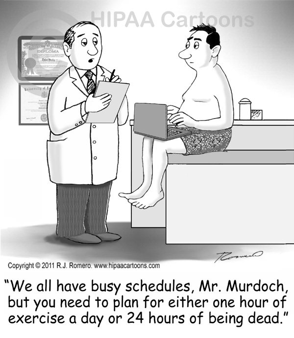 Cartoon-doctor-tells-busy-patient-to-exercise_b104
