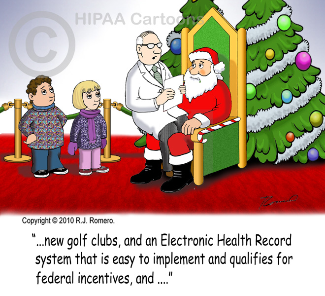 Cartoon-doctor-asks-Santa-for-EHR-that-is-easy-and-qualifies-for-incentives_emr115