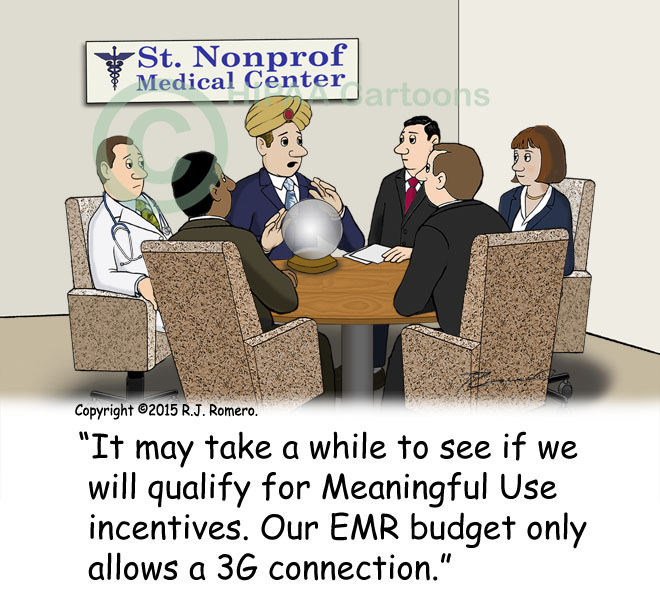 Cartoon-CFO-says-meaningful-use-result-slow-because-only-3G-conection_emr150