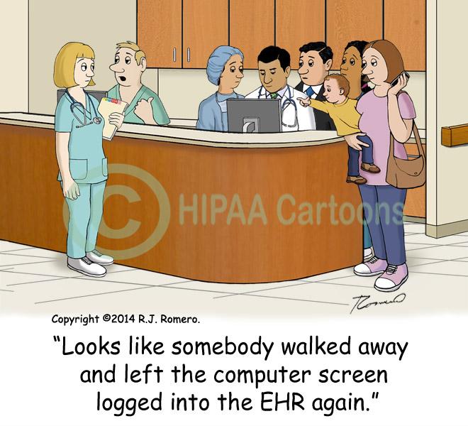 Cartoon_computer_left_logged_on_people_snooping_EHR_emr154